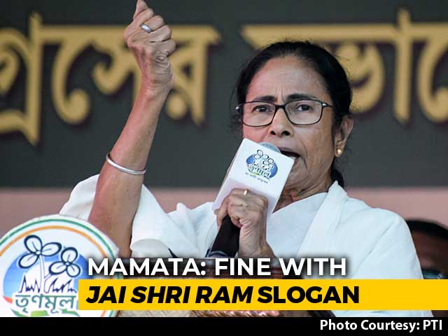 "Video : Fine With ""Jai Shri Ram"" Slogan, But Not How BJP Uses It: Mamata Banerjee"