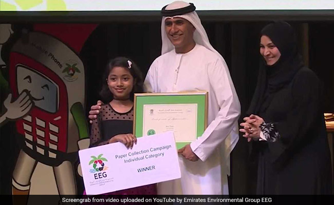 Indian-Origin Student, 8, In Dubai Collects 15,000 Kg Paper Waste: Report