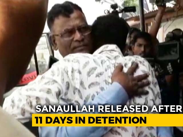 """Video : Ex-Soldier Declared """"Foreigner"""" In Assam Released From Detention Centre"""