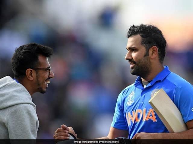 How Rohit Sharma Congratulate Yuzvendra Chahal For His Bowl