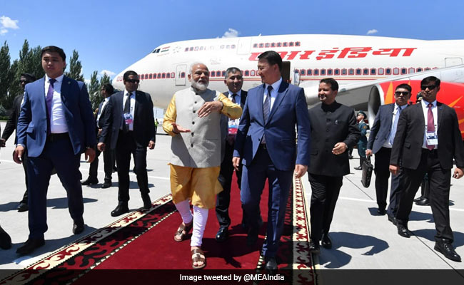 PM Arrives In Bishkek For First Multilateral Engagement Post Re-Election