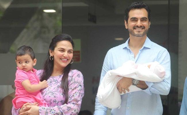 Esha Deol And Bharat Takhtani Take Baby Miraya Home. See Pics