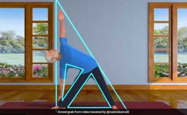 पीएम नरेंद्र मोदी ने शेयर किया एनिमेटिड वीडियो, सिखाया त्रिकोणासन, इस योग के ये हैं फायदे