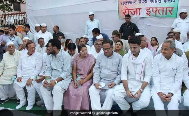 Ashok Gehlot, Sachin Pilot Together At Iftar As Interview Widens Rift