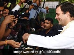 Rahul Gandhi Celebrates 49th Birthday By Distributing Ladoos: See Pictures