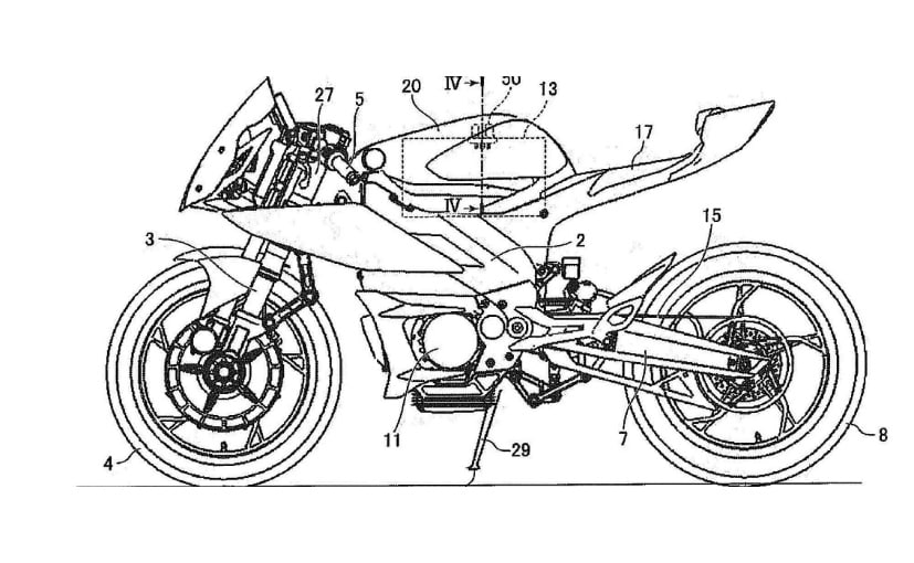 Yamaha has filed design patents for electric motorcycles
