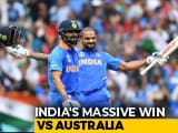 Video : World Cup 2019: All-Round India Beat Australia By 36 Runs