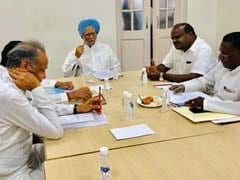Manmohan Singh Meets Congress Chief Ministers Ahead Of NITI Aayog Meeting
