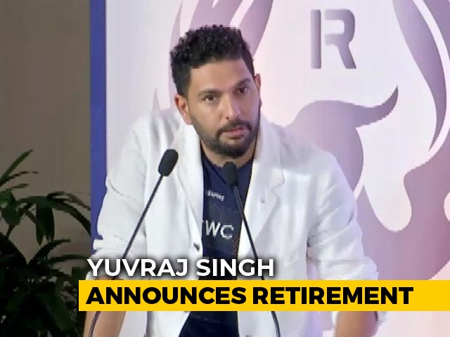 """Video : """"Time To Move On,"""" Says Yuvraj Singh, Announces Retirement"""