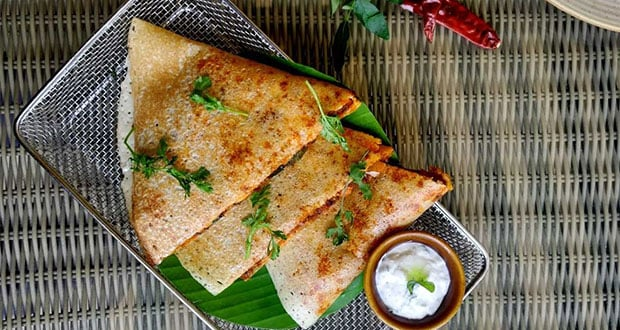 Ghee Roast Chicken Dosa Quesadilla
