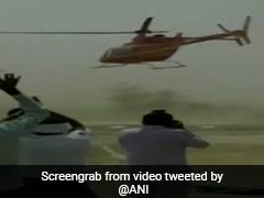 On Video, BJP Lawmaker Has A Close Shave As Chopper Goes On Dizzying Spin