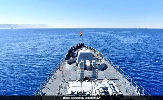 Indian Naval Ship Tarkash Reaches Egypt For Overseas Deployment Programme