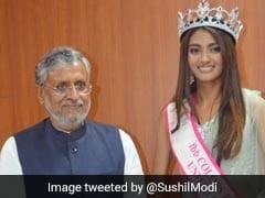 बिहार: डिप्टी CM सुशील मोदी ने की ब्यूटी कॉन्टेस्ट विजेता से मुलाकात, ट्विटर पर ऐसे फूटा लोगों का गुस्सा