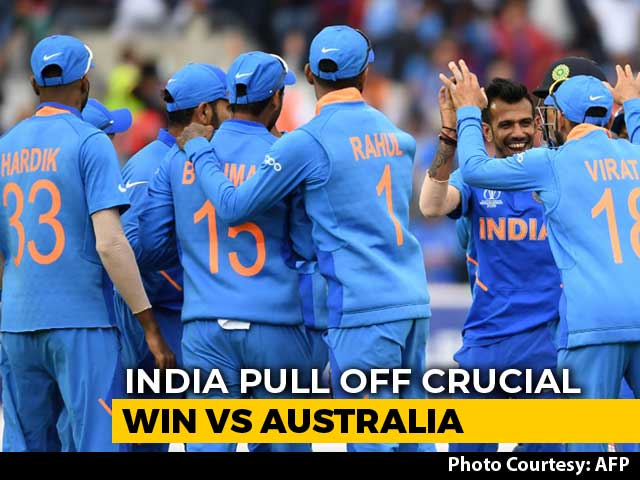 World Cup: India Beat Australia By 36 Runs For Second Straight Win