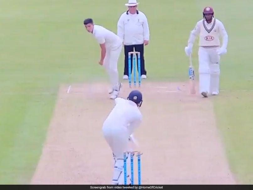 Arjun Tendulkar Dismisses Surrey 2nd XI Batsman With Raw Pace