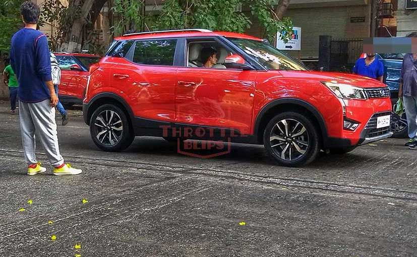 The Mahindra XUV300 AMT has been spotted during a TVC shoot.