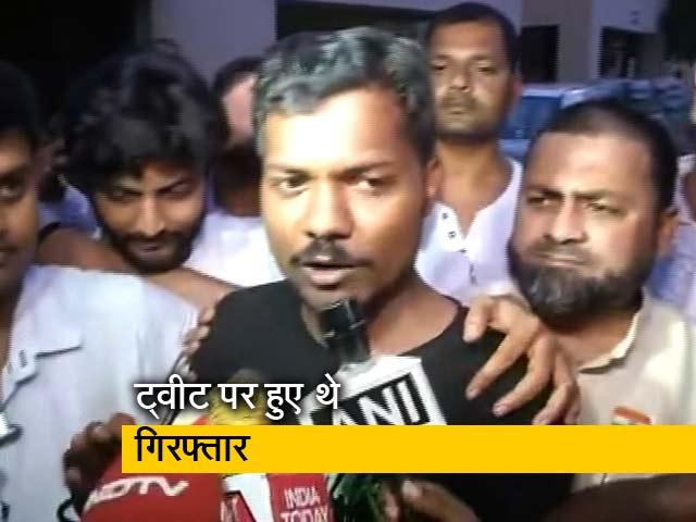 Videos : पत्रकार प्रशांत कनौजिया लखनऊ जेल से रिहा