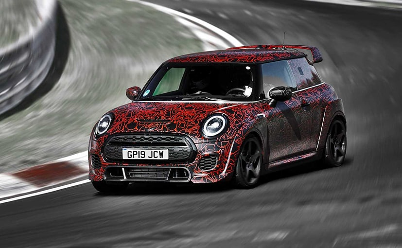 2020 Mini John Cooper Works GP completing set-up runs on the Nurburgring-Nordschleife.