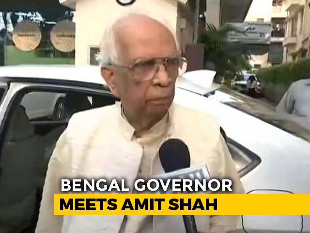 """Video : Bengal Governor Briefs PM, Amit Shah On """"Ground Situation"""""""