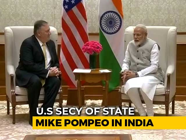 Video : Trade, Russia Arms Deal In Focus As Mike Pompeo Meets PM Modi