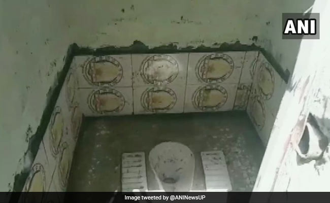 Swachh Bharat Toilets In UP Use Tiles With Mahatma Gandhi's Photo, Officer Suspended