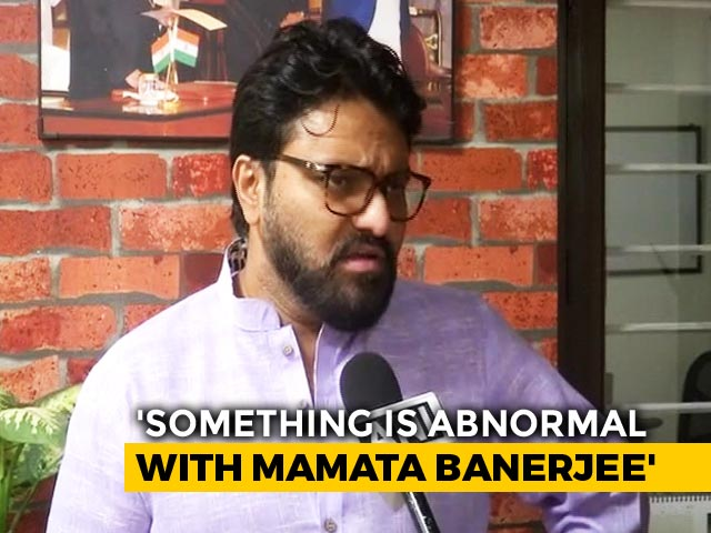 "Video : ""Didi Not Well..."": Minister Babul Supriyo Snarks On ""Jai Shri Ram"" Row"