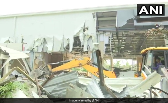 "Image result for photo of Illegal"" Rs. 8-Crore Hall Built By Chandrababu Naidu Demolished Overnight"