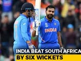 India Begin Campaign With 6-Wicket Win Over South Africa