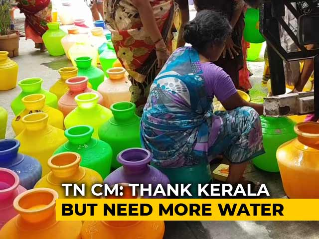 Video : Not Sufficient, Says Tamil Nadu Chief Minister On Kerala's Water Offer