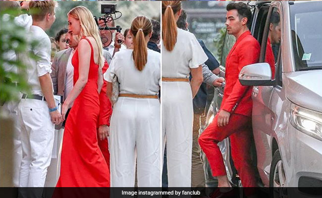 Sophie Turner and Joe Jonas pull baller move at pre-wedding party