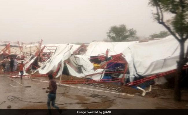 राजस्थान के बाड़मेर में राम कथा के दौरान बारिश और तूफान से गिरा टेंट, 14 की मौत, दर्जनों घायल