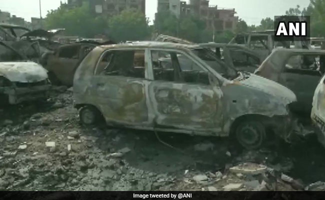 50 Cars Gutted In Dumping Ground Fire In Delhi