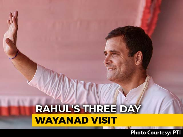 Video : Rahul Gandhi's Visit To Wayanad Begins Today, Day Before PM's Kerala Trip