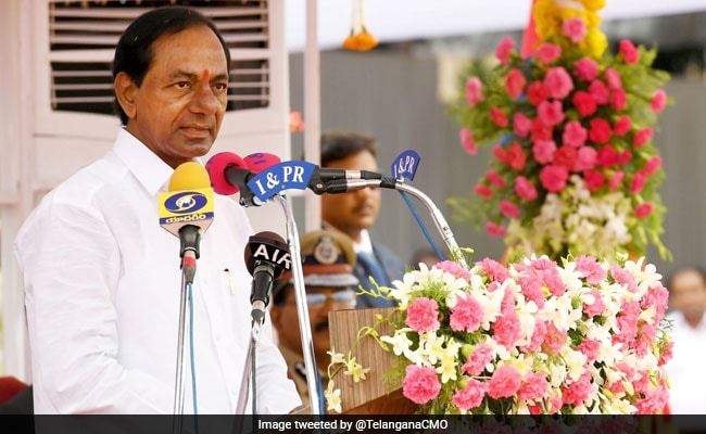 KCR Celebrates Telangana Formation Day, Says State Is Marching Ahead