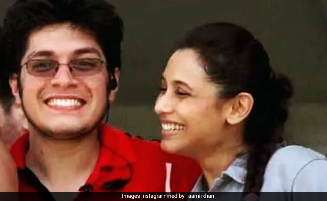 Rani Mukerji Spotted In Aamir Khan's Birthday Post For Son Junaid. The Caption Takes The Cake
