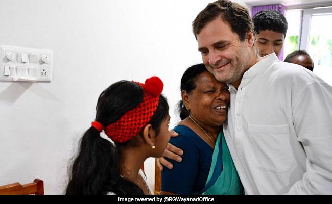 In Wayanad, Rahul Gandhi Hugs Nurse Who Was Present When He Was Born