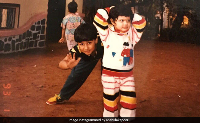 Little Arjun And Anshula Kapoor In A Pic From A Very Long Time Ago