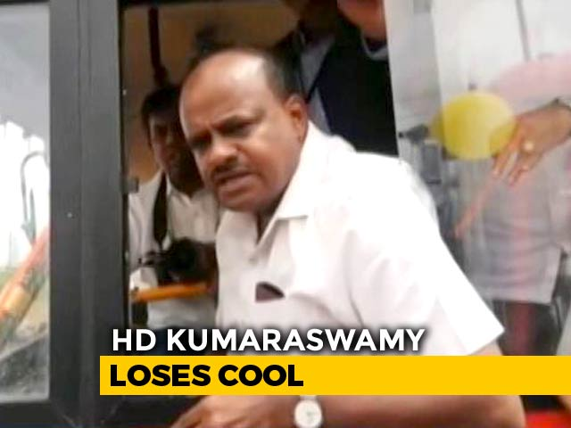 """Video : """"You Voted For Narendra Modi"""": HD Kumaraswamy Snaps At Locals On Camera"""