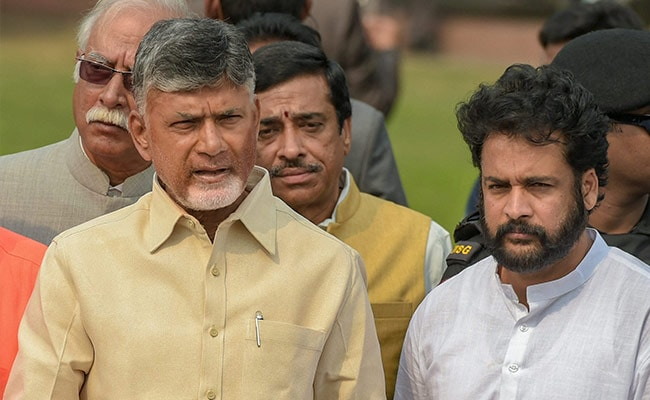 Chandrababu Naidu Puts Up A Brave Face As 4 Lawmakers Join BJP