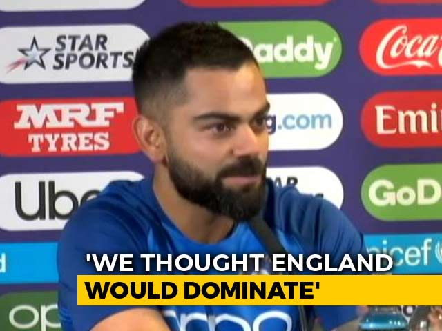 "Video : ""Thought England Would Dominate"": Virat Kohli Surprised At Hosts' World Cup Predicament"