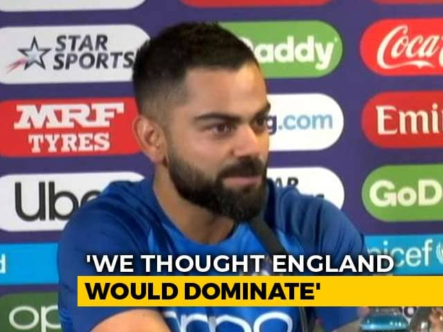 """""""Thought England Would Dominate"""": Virat Kohli Surprised At Hosts World Cup Predicament"""