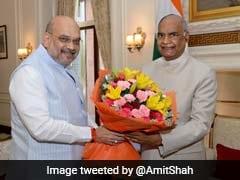 Home Minister Amit Shah Calls On President Ram Nath Kovind