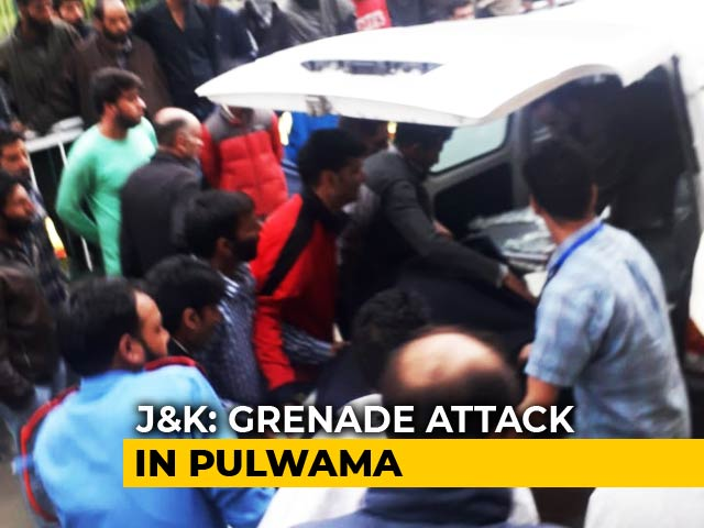 Video : 3 Critical As Terrorists Throw Grenade At Police Station In J&K's Pulwama