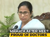 "Video : ""Proud Of Our Doctors,"" Mamata Banerjee Says After Meeting"