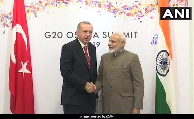 PM Modi Discusses Counter-Terrorism, Defence With Turkish President In Japan