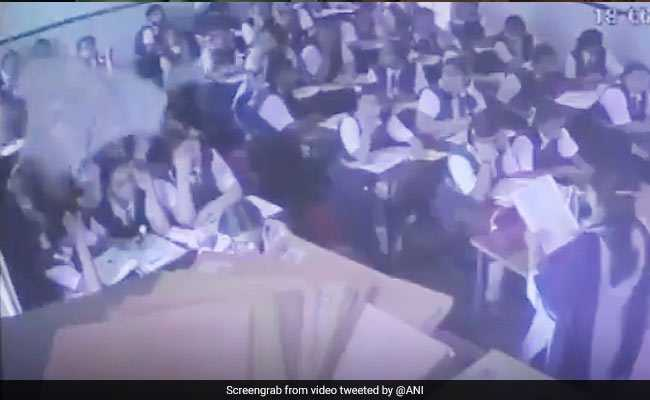 On Video, Portion Of Roof Falls On Students At Maharashtra School; 3 Hurt