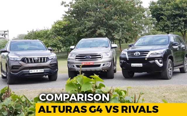 Video : Mahindra Alturas G4 vs Ford Endeavour vs Toyota Fortuner