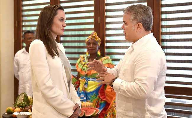 Angelina Jolie Meets Colombian President Over Venezuelan Migrant Kids