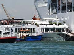 Panic As Cruise Ship Rams Boat, Then Crashes Into Crowded Dock. Watch
