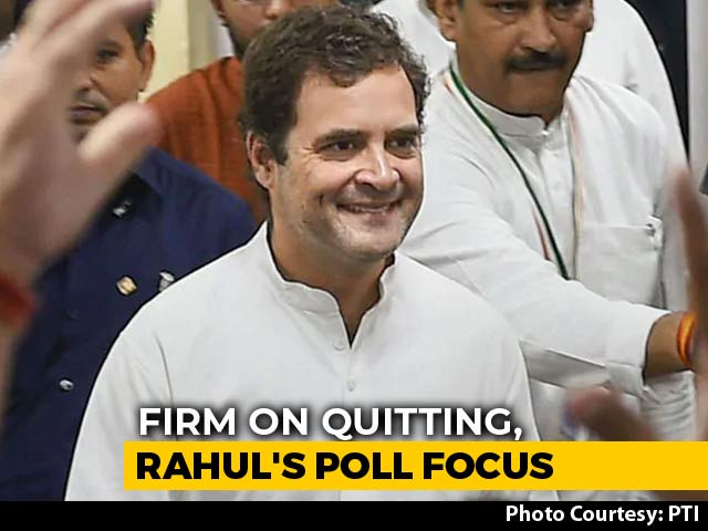 Video : Rahul Gandhi Dials Leaders Of Poll Bound States, Raising Congress Hopes
